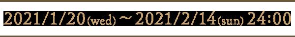 Valentine's Day Gift 2021/1/20(wed)~2021/2/14(sun) 24:00